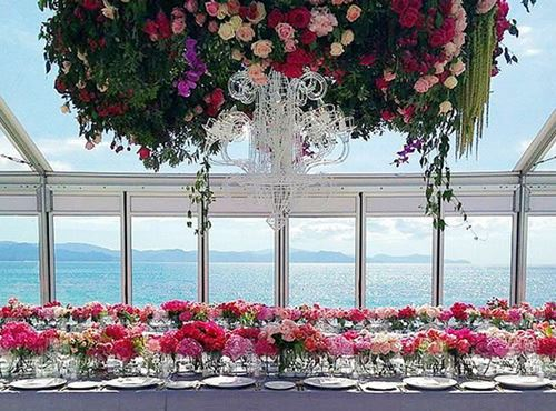 Sophisticated Floral Setup - Marquee Hire For Events