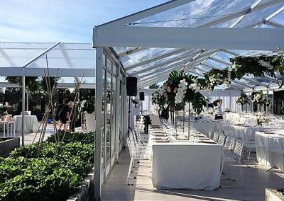 9m x 12m VIP Marquee with a Clear Roof