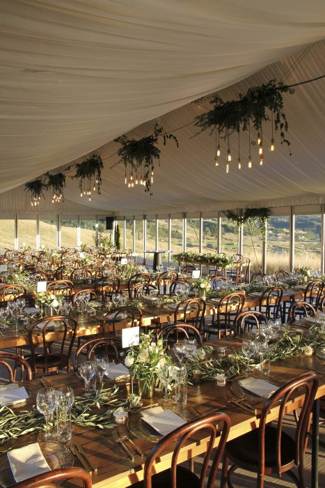 12m x 25m VIP Marquee with Silk Roof Lining