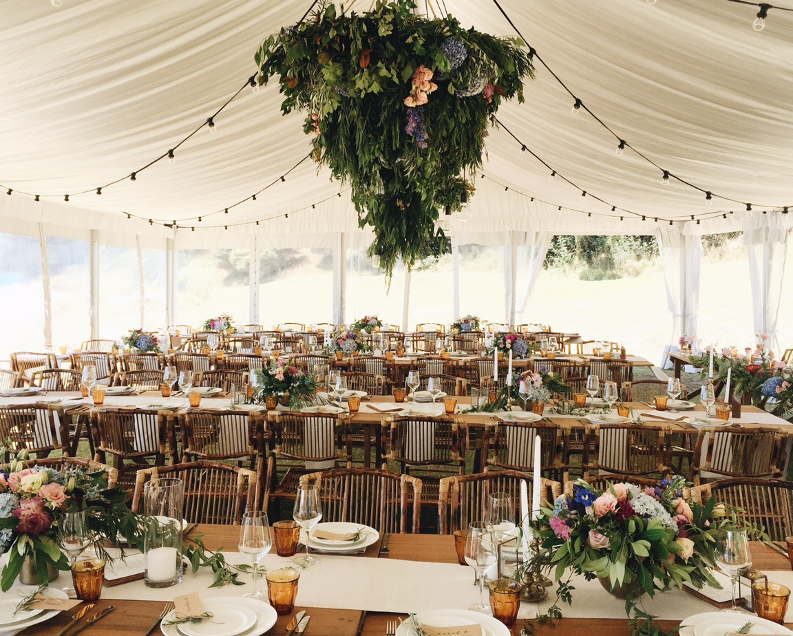 Traditional 9m Marquee with Silk Roof Lining