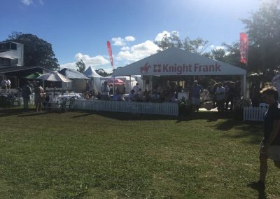 Land Rover Polo - Knight Frank 9m x 9m marquee with Branded Gable