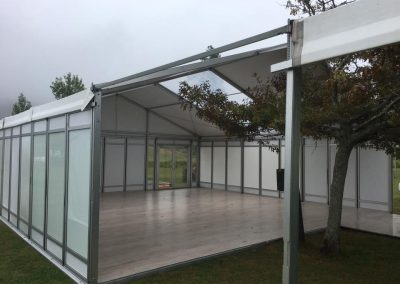 Land Rover Polo - Knight Frank 9m x 9m marquee with clear roof panel