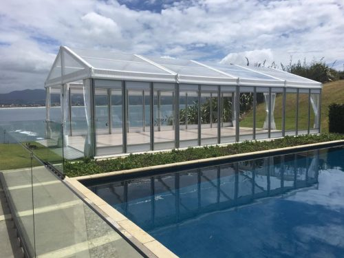 6m x 12m VIP Marquee with Clear Roof