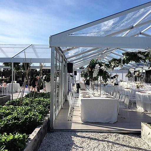 9m x 24m VIP Marquee with a Clear Roof