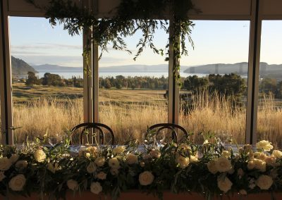 VIP Marquee at Kinloch with outlook to Lake Taupo