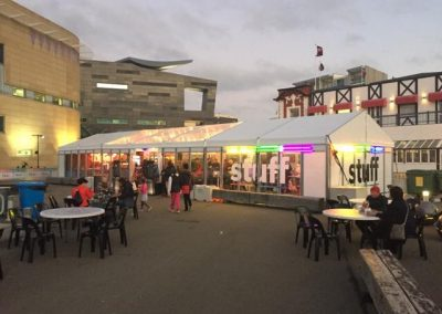 9m VIP with clear roof panels - Wellington waterfront