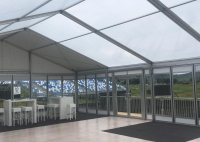 LPGA VIP Hospitality Marquee with mixed floor coverings