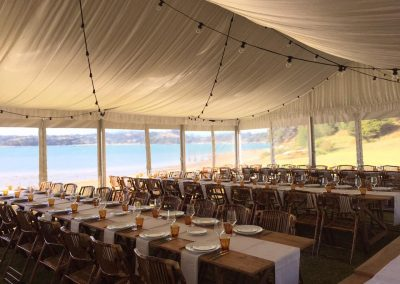 Traditional Marquee with sik lining - Waiheke Island