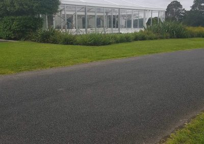 12m x 20m VIP Wedding Marquee with Clear Roof at Villa Maria
