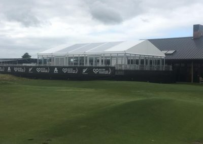 LPGA VIP Hospitality Marquee with clear roof panels