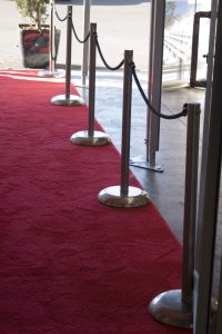 Red Carpet Runner with Crowd Control Poles