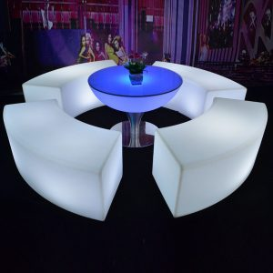 LED Coffee Table Curved