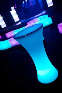 LED Curved Bar Table