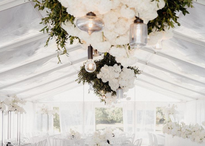 9m Clear Roof Marquee at Te Hihi Estate - Flowers by Blush