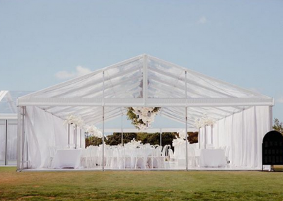 9m Clear Roof Marquee at Te Hihi Estate - Style by PS I Love You
