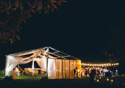 Custom Marquee with Open Air Roof and Dance Floor