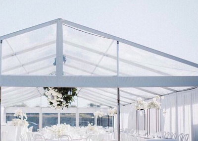 VIP Marquee with Clear Roof at Te Hihi Estate - Styled By PS I Love You Flowers By Blush